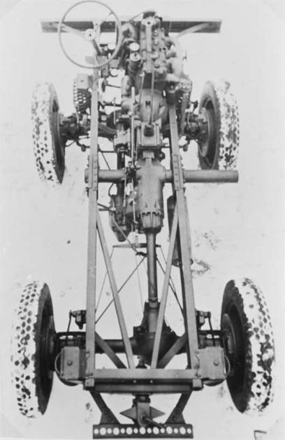 Fahrgestell Prototyp mit M136