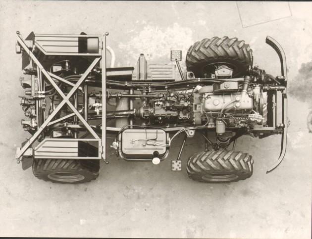 Werksbild Fahrgestell U65  Bj. 1964 Motor OM 352