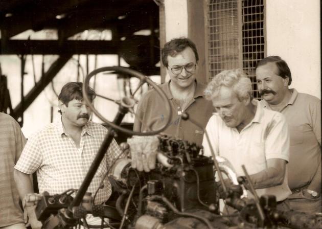 Wenige Tage nach der Gründung fand bei Heinz Schnept der erste Schraubertreff statt