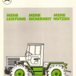 UCOM Bilder MB-trac 65 PS Pospekt 2 1972 Volkwart Vath