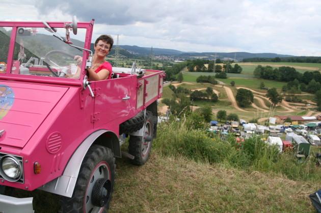 Bernadette Oertig war mit ihrem pinkfarbenen U 2010 natürlich auch mit dabei