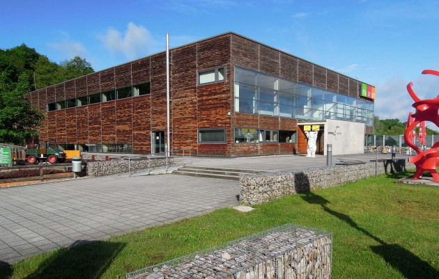 Auch die Architektur des Unimog-Museum ist ausgezeichnet
