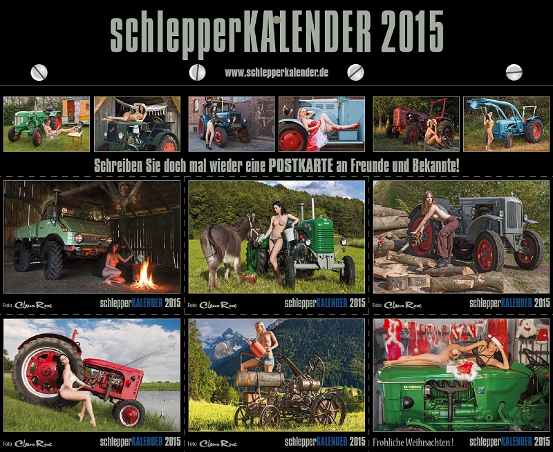 schlepper kalender 2015 ein kult kalender startet in die 8 runde unimog. Black Bedroom Furniture Sets. Home Design Ideas
