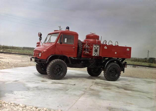 Unimog-S Pulverlöschfahrzeug TroLF 750 mit Total-Aufbau