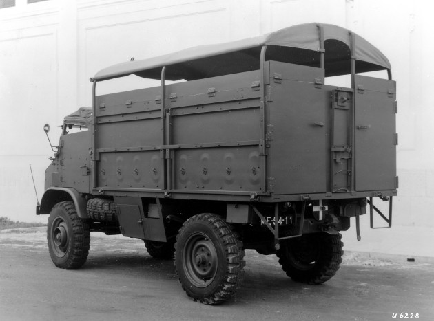 Unimog S mit geschütztem Aufbau, geliefert an Portugal