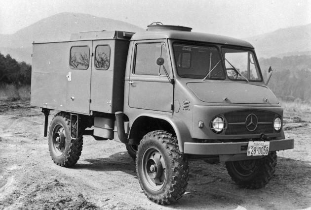 Unimog S, Baureihe 404.1 Prototyp des Tanklöschfahrzeuges TLF 8 für den Luftschutzhilfsdienst