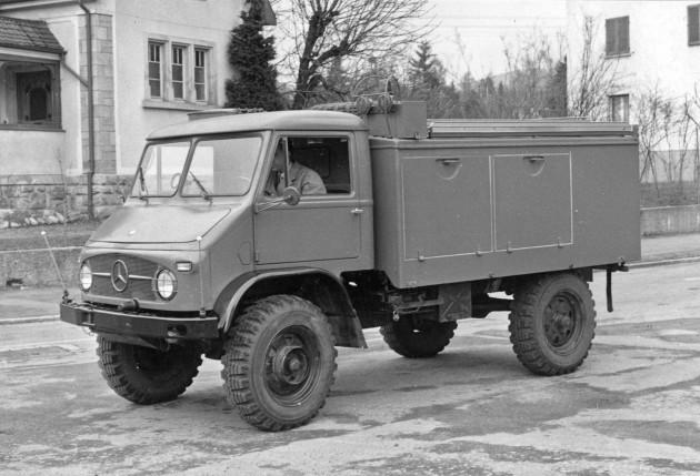Unimog S, Baureihe 404.1 Tanklöschfahrzeuges TLF 8 für den Luftschutzhilfsdienst