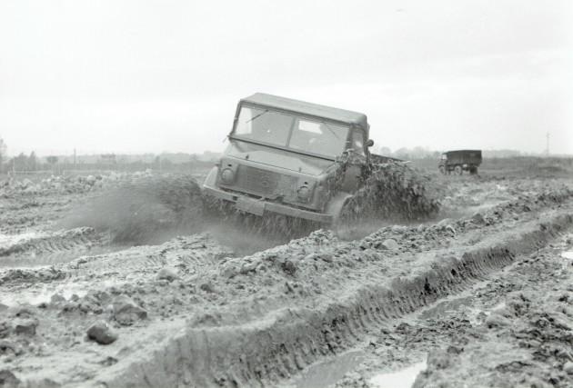 Die Prototypen des Unimog-S wurden 1954 unter extremen Bedingungen getestet
