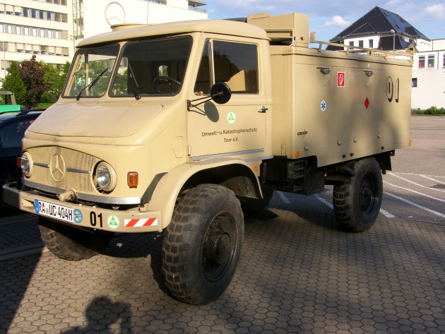 Unimog-S vom Umwelt- und Katastrophenschutz Trier, der dem Unimog-Museum auf Dauer übergeben wurde.