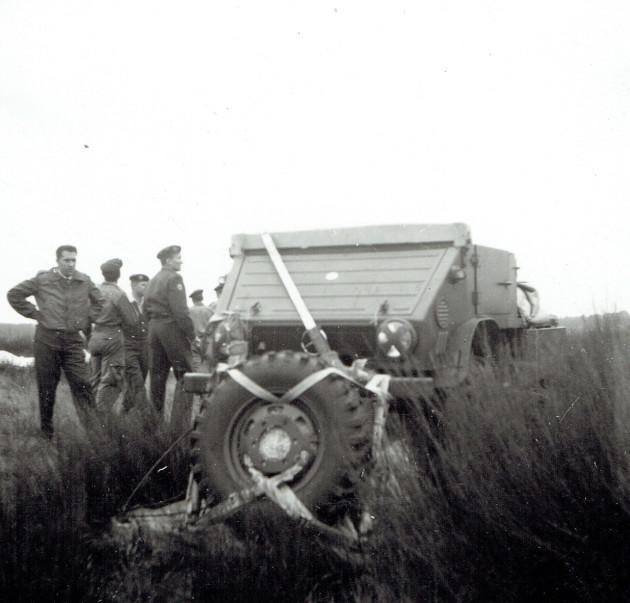 Der Unimog 411.114 mit Benzinmotor ist gut gelandet