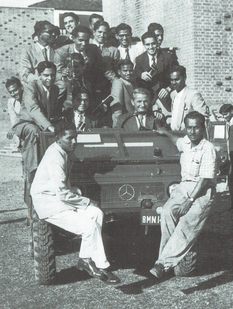 Erich Grass Mitte der 1950er Jahre in Debra Dun, Kaschmir