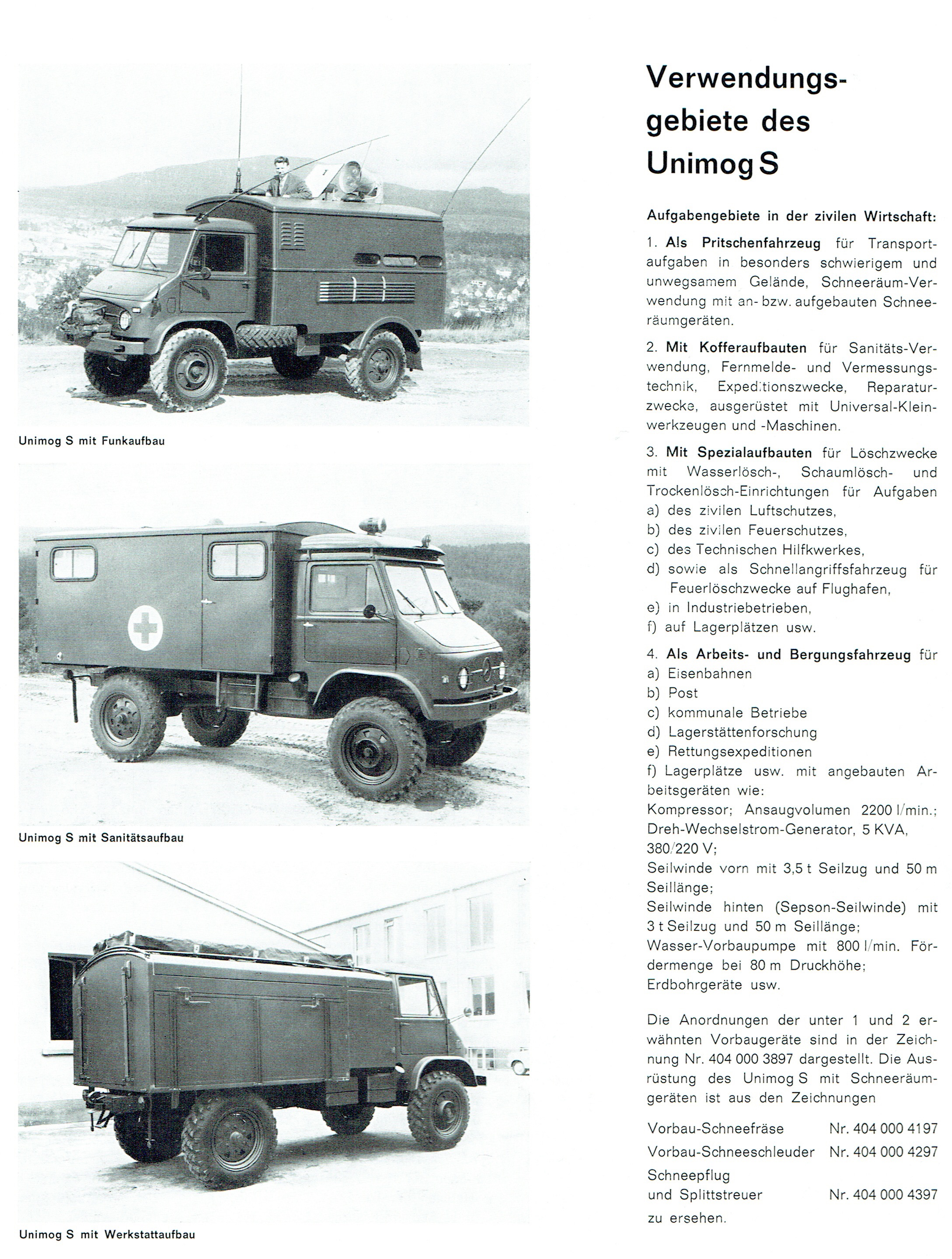 der unimog s in den unimog informationen von 1964 unimog. Black Bedroom Furniture Sets. Home Design Ideas