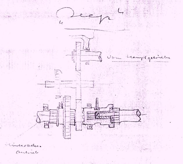 """Im Juli 1945 stand """"Konkurrenzbeobachtung"""" - wie hier der Jeep - auf dem Programm der kleinen Entwicklungsgruppe für den späteren Unimog - Archiv Daimler AG"""