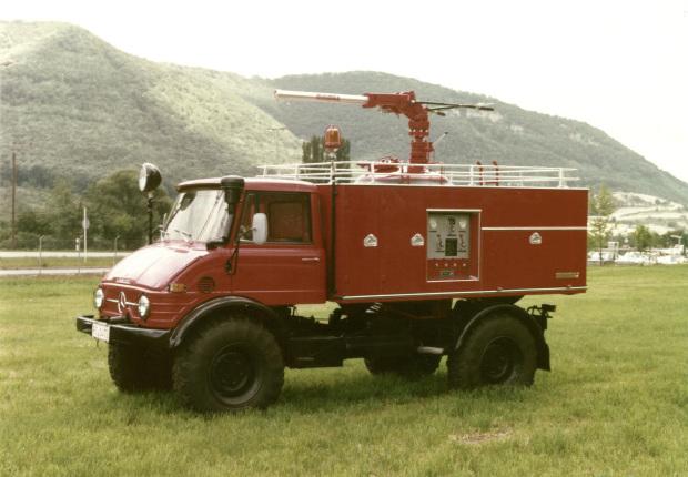 Unimog Baureihe 416 Trockenlöschfahrzeug TroLF 750 mit Minimax Aufbau
