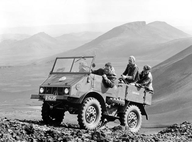 Unimog U25, Baureihe 2010 bei Filmaufnahmen im Gebirge