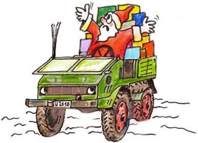 Weihnachtsmann Unimog 2010