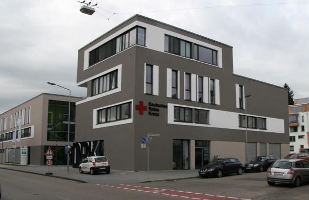 An der Stelle der früheren Fabrik von Erhard & Söhne hat heute die Kreisverband des Deutschen Roten Kreuzes Schwäbisch Gmünd seine Zentrale.