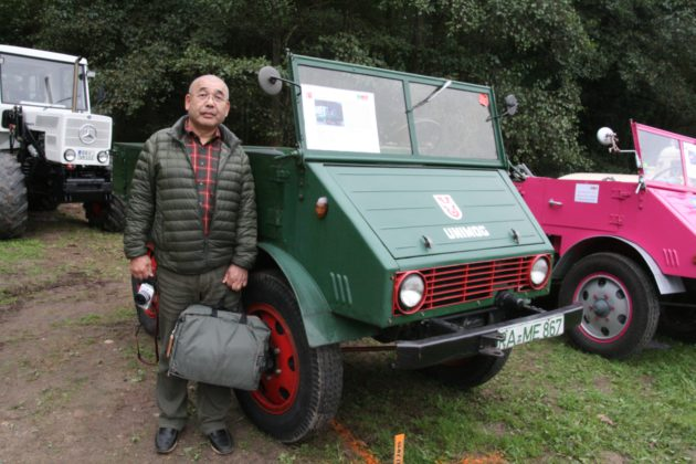 Aus Japan war Unimog-Fan Buntai Saikawa eingeflogen