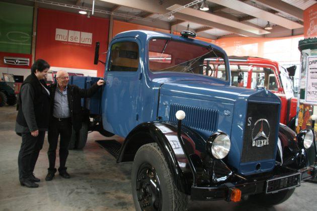 Stolz prangt am Kühler der DIESEL-Stern. In Gaggenau wurden 1923 erstmals Diesel-Motoren in ein Automobil eingebaut.
