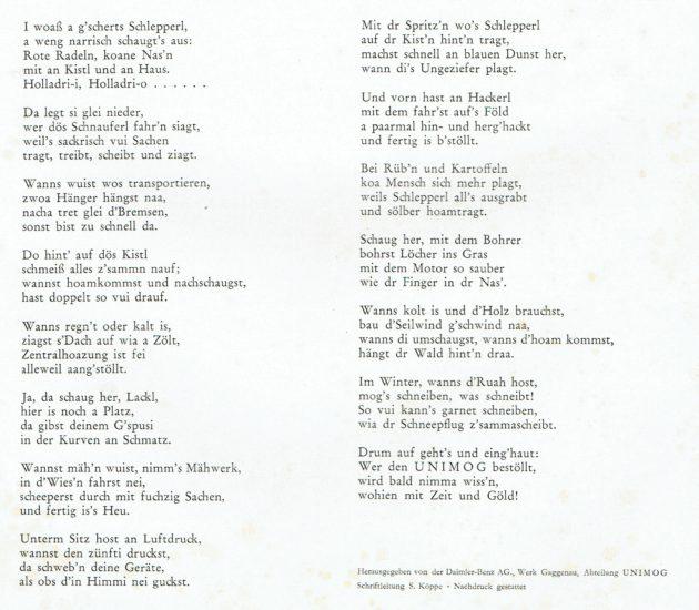 UCOM Ratgeber 10 Schnadahupferl Text